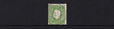 Portugal - 1870-84 10r Bright Yellow Green - Perf 12½ - CDS Used - SG 158