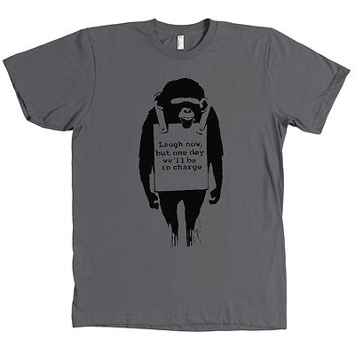 Banksy Laugh Now But One Day We'll Be In Charge Monkey Bella + Canvas Shirt