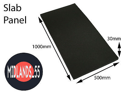 1x SLB100 SLAB Pro Acoustic Foam Panel Studio Room Treatment 1000x500x30mm