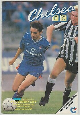 Coventry City Away At Chelsea 1987 Programme Orig Hand Signed X 14 Signatures