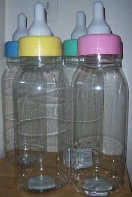 "New 22"" Baby Shower Empty Bottle Bank, Party Favor, Blue or Pink"