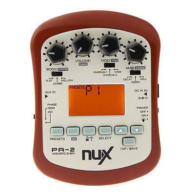 NUX PA-2 Portable Acoustic Guitar Effects Processor Preamp Pedal Multifunctional