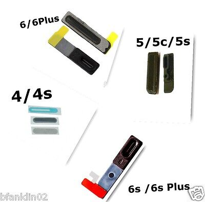iPhone 4 4s 5 5c 5s 6 6s 7 Anti Dust Earpiece Speaker Grill Mesh Rubber 3FOR2
