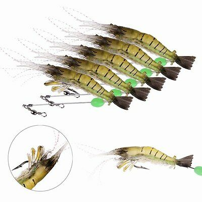 Man-made Shrimp Fishing Simulation Noctilucent Good Saltwater Lure Hooks Bait