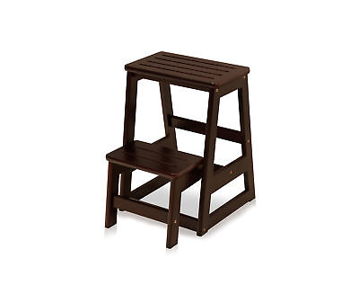 Magnificent Wildon Home 2 Step Wood Folding Compact Step Stool With Caraccident5 Cool Chair Designs And Ideas Caraccident5Info