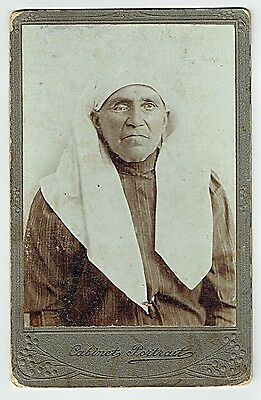 Judaica Art Nouveu Cabinet Photo Of An Old Jewish Woman