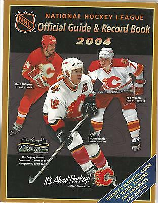 2004 Nhl Hockey Official Guide & Record Book - Jarome Iginla, Mullen+ On Cover