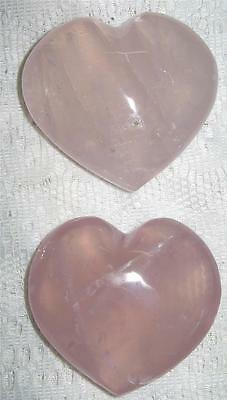 Awesome New 55Mm *rose Quartz* Puff Heart (Last Two) - Reiki Healing - A Grade