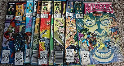 (10) Avengers Comics From #285-296  Vf-Nm