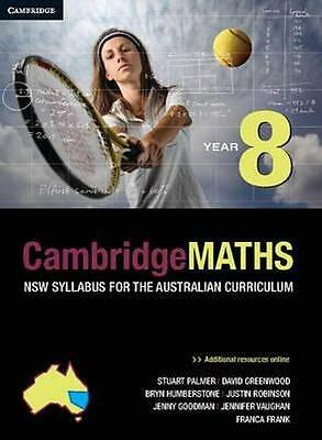 NEW Cambridge Maths Year 8 By Stuart Palmer Paperback Free Shipping