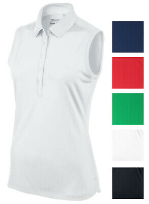 NIKE GOLF TOUR WOMEN'S DRI-FIT PERFORMANCE POLO, Tech Pique Sleeveless Shirt