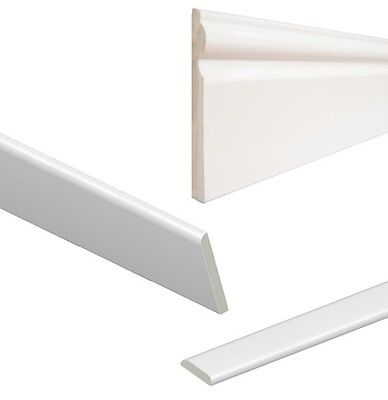 uPVC Architrave - Plastic Skirting Board - Window Sill / Door Trim - White Gloss