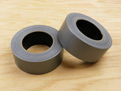 """2 HIGH QUALITY 2"""" Grey Duct Tape Waterproof UV Tear Resistant 60 yd 180' Roll"""