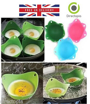 Silicone Egg Poaching Pods Poacher Cups Kitchen Gadget Cookware Non Stick PODS