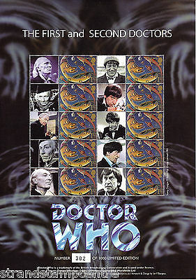 BC-213 - Doctor Who - The First & Second Doctors - Smilers Stamp Sheet