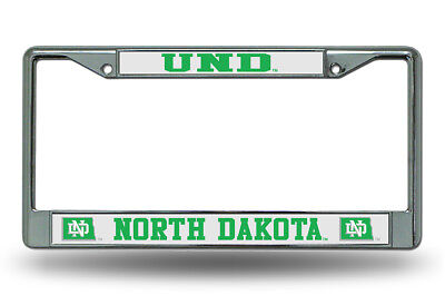 University of North Dakota UND Chrome License Plate Frame FREE US Shipping
