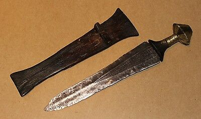 CONGO old african knife ancien couteau afrique DENGESE afrika kongo africa sword