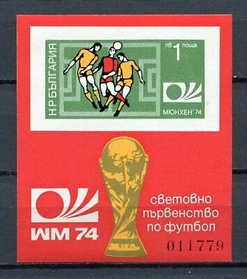 33745) BULGARIA 1974 MNH** World Cup Soccer Munich S/S IMPERF