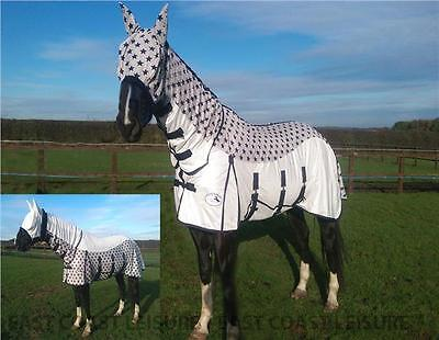 Equidor Lecanto Horse Fly Rug Combo With Free Fly Mask Large Belly Strap