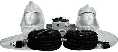 2-man Vinyl hood supplied air respirator w/50' air hoses