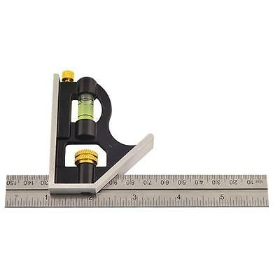 Combination Square Set Adjustable Sliding Metal 150mm 6 Inch Pocket