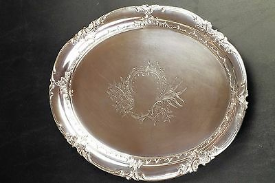 1900's Austrian Solid Coin Silver Platter Tray Sterling
