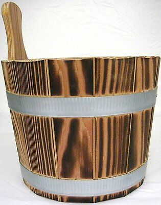 Sauna Infusion bucket / / out Larch wood flamed - 5,0 L