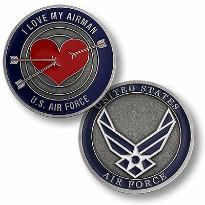 U.S. Air Force / I Love My Airman - Bronze Challenge Coin