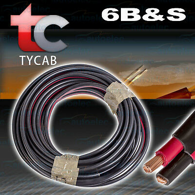 12 Metres X 6B&s Twin Core Cable Dual Battery System 12V 6 B&s 12M 125 Amp 125A