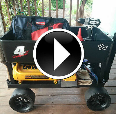 Mechanic Tool Cart 4 Wheel Carts Shop Garage Cart Pull Wagon Indoor Outdoor Cart