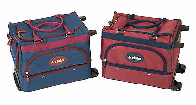 ACCLAIM Eyemouth Unisex Bowls Bowlers Bowling Trolley Bag Navy Blue & Burgundy