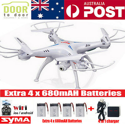 SYMA X5SW WIFI RC Drone FPV Quadcopter Camera 6-Axis Video Helicopter Batteries