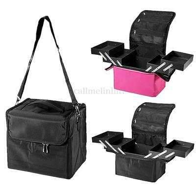 Pro Beauty Custodia Borsa Trousse Make Up Parrucchiere Trucco Case Box Shoulder