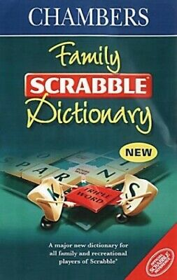 Chambers Family Scrabble Dictionary by , Chambers Hardback Book The Cheap Fast