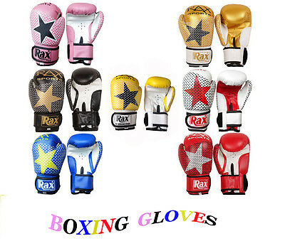 Kids Boxing Gloves Punch Bag Sparring Training Mitts MMA 4oz 6oz 8oz