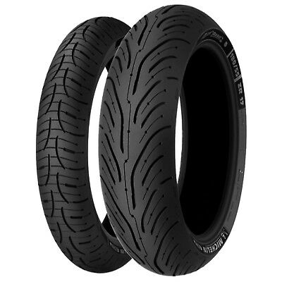 Michelin Pilot Road 4 Motorcycle Tyre Pair 120/70 ZR17 and 180/55 ZR 17
