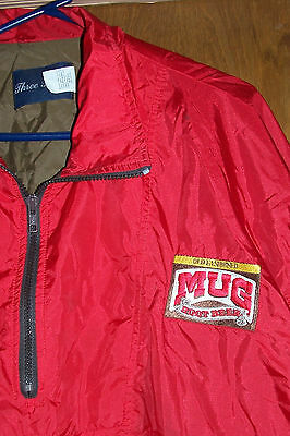 Men's Size XL Old Fashioned Mug Root Beer Nylon Pullover Jacket Windbreaker Red