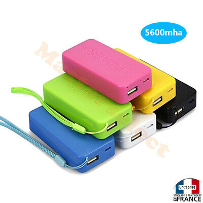 BATTERIE DE SECOURS EXTERNE USB POUR TELEPHONE PORTABLE  iPhone,samsung 5600maH
