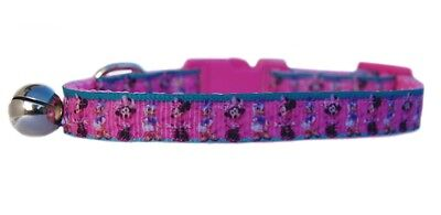 "Pink  Disney's  "" Minnie Mouse & Daisy Duck ""   safety kitten cat collar 3 sizes"