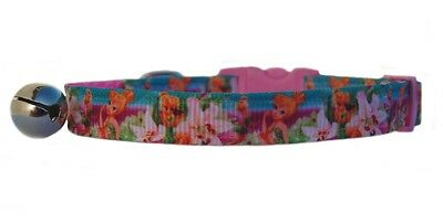 "Pink  ""Tinker Bell  Fairy ""   safety kitten cat collar 3 sizes"
