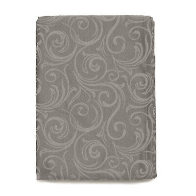 Lyon Tablecloth Anti-Stain Proof Resistant-Rectangle-Large Sizes-Color Dark Grey