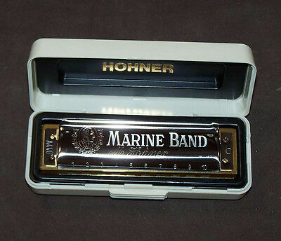 "Armonica diatonica Hohner Marine Band ""Blues"" in Do C corpo centrale legno NUOVO"