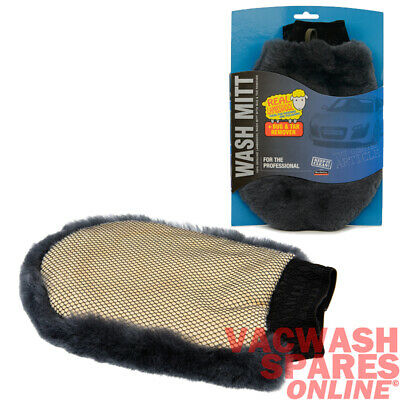 Genuine Lambswool Car Cleaning Wash Mitt With Bug Shifter / Valeting / Detail