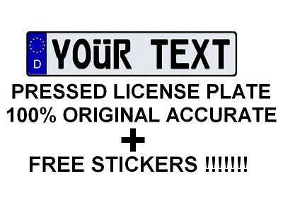 Customized Personalized ALL European Union Car Euro license plate Germany German