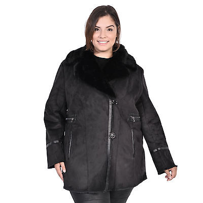 Women's Plus Faux Shearling Short Coat
