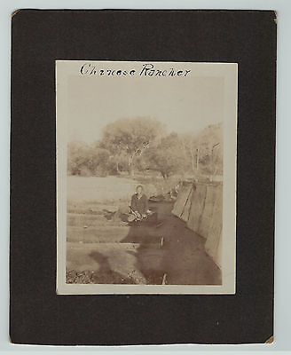 RARE Albumen Photo - Prescott Arizona AZ - Chinese Rancher ca 1880s China Man