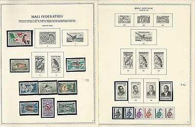 Mali Collection 1959 to 1977 on Minkus Specialty Pages, 54 Pages