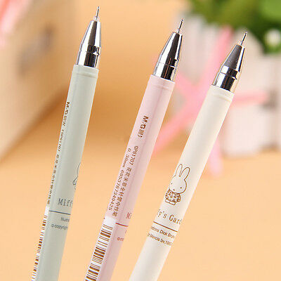 4pcs 0.38mm Cute Useful Gel Ink Rollerball Pen Black Ink Kids Student Gift New