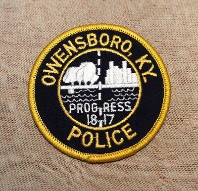 KY Owensboro Kentucky Police Patch (3In)