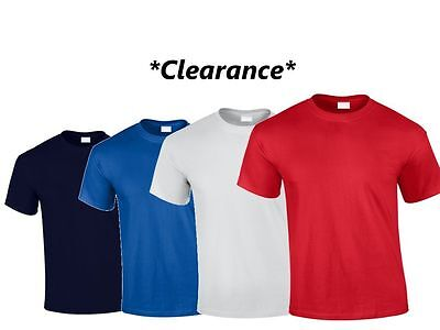 PREMIUM HEAVY WEIGHT UNISEX T SHIRT Plain Tee Short Sleeve Blank Cotton Top